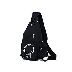 Túi đeo chéo một quai in hình music