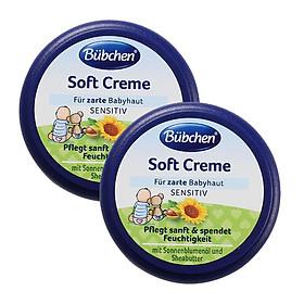 [Combo 2 Hộp] Kem dưỡng da cho bé Bubchen Soft Creme mùi hoa cúc 20ml