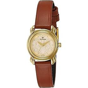 Titan Analog Gold Dial Women's Watch - 2534YL04