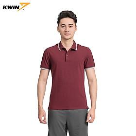 Áo phông trơn có cổ viền trắng KWIN chính hãng 2 màu nhã nhặn, chất liệu cao cấp co giãn tốt