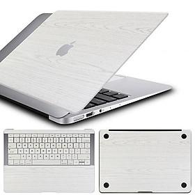 Bộ 3 vỏ bảo vệ mặt trên+dưới+bàn phím chuyên dụng cho Apple MacBook Air(2017) - Màu trắng vân gỗ