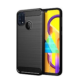 Ốp Lưng Dẻo Dành Cho Samsung Galaxy M31 Vân Xước Chống Sốc-Handtown- Hàng Chính Hãng