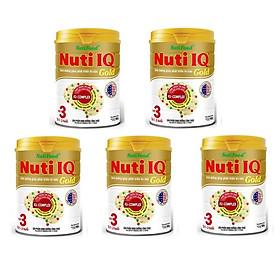 Bộ 5 Lon Sữa Nuti IQ Gold Step 3 900g (trẻ 1-2 Tuổi)