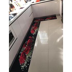 Bộ 2 miếng thảm bếp 3D chống trơn trượt - Kích thước 120x40 và 60x40cm