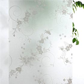 Miếng Dán Trang Trí Cửa Sổ Hình Hoa Trong Suốt (45x100cm)