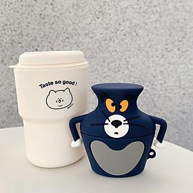 Bao Case Cho Airpods 1 / Airpods 2 / Airpods Pro Hình Mèo Tom