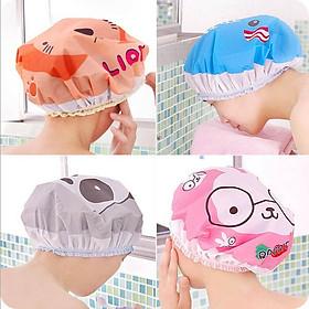 Bộ 3 nón trùm tóc khi tắm rửa mặt ủ dưỡng tóc tại nhà xinh xắn ( hình ngẫu nhiên)