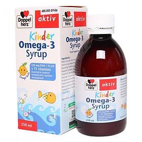 Siro Omega 3 (DHA) Doppelherz Kinder Omega 3 Syrup không tanh vị cá nhập khẩu Đức có tem chính hãng cho bé