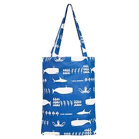 Túi Tote Nữ Cá Heo XinhStore TVBM_01 (41 x 30 cm) - Xanh Đậm