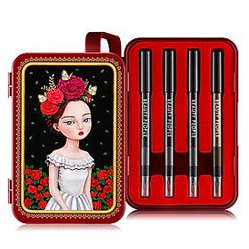 Bộ bút chì vẽ viền mắt sắc màu sành điệu phiên bản 2 BEAUTY PEOPLE Lofty Girl Doll Eye Special Makeup Set Season 2