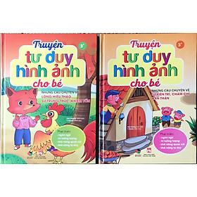 Combo 2 quyển truyện thiếu nhi hay - Truyện tư duy hình ảnh cho bé ( lòng hiếu thảo ...+ kiên trì chăm chỉ ...)