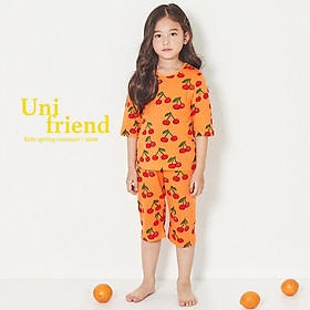 Đồ bộ lửng cotton cho bé gái 2-10 tuổi Unifriend 2021