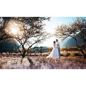 Chụp ảnh cưới tại Hồng Linh Studio-Voucher gói chụp ảnh cưới tại các địa điểm trong Khu vực miền Bắc (BLUE RUBY)