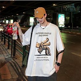 3 Color【M-3XL】 Summer New Style Fashion Printed Graphic Short Sleeve T-shirt Men Breathable Unisex Half Sleeve T-shirt Oversize Student Couple Short T-shirt Couple Wear