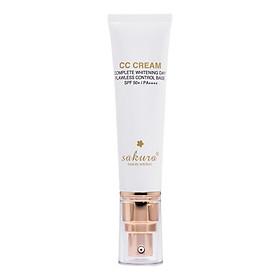 Kem Trang Điểm Chống Nắng Đa Năng Sakura CC Cream  Flawless Control Base SPF50+ PA+++ (40ml)+