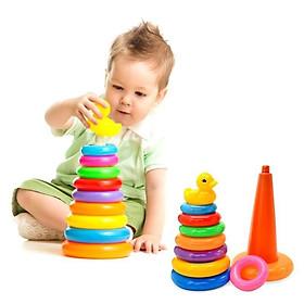 Đồ chơi tháp xếp chồng vịt size lớn cho bé