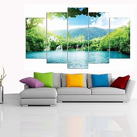 Tranh treo tường, tranh trang trí PP_ DH2015A bộ 5 tấm ghép phong cảnh