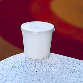 100 Ly giấy 6oz 165ml - Kèm nắp - Dùng đựng sữa chua, gia vị, sản phẩm dùng thử, dùng uống nước một lần