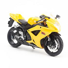 Mô Hình Xe Suzuki GSX R600 Yellow 1:12 Maisto MH-31101(20-06183)