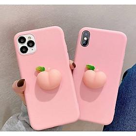 Ốp lưng đào 3D dành cho Iphone 5,5s,6,6s,6 plus,6s plus,7,8,7plus,8 plus,X,XS,XR,XS Max,11,11 Pro,11 Pro Max