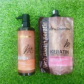 Bộ phục hồi tóc hư tổn tại nhà MASARONI Collagen Keratin cao cấp của Canada 500ml