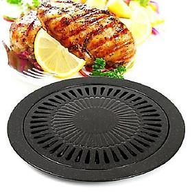 Vỉ nướng men 2 mảnh chống dính cao cấp, dùng tiện lợi cho bếp than, bếp cồn, bếp ga..., màu ngẫu nhiên