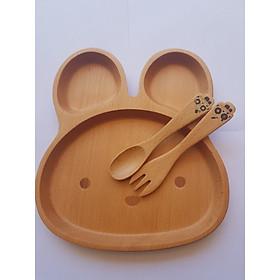 Khay Ăn Cho Bé Hình Con Thỏ Bằng Gỗ Beech - Đồ Gỗ Nhà Bếp Thương Hiệu Trường Sơn