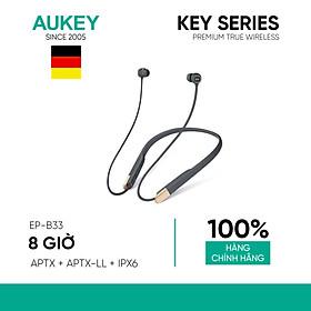Tai Nghe Bluetooth AUKEY EP-B33, aptX / aptX-LL, 10mm Driver Graphene, Kháng Nước IPX6, 8 Giờ Nghe Nhạc - Hàng Chính Hãng