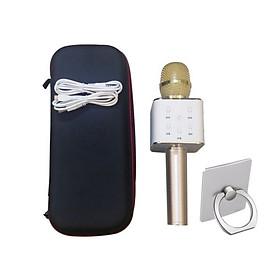 Micro Bluetooth Q7 Hát Karaoke Tặng Hộp Đựng Và Giá Đỡ Ring