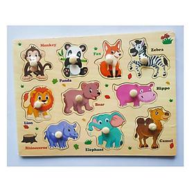 5 Bảng đồ chơi ghép gỗ có núm cho bé  Mã 018