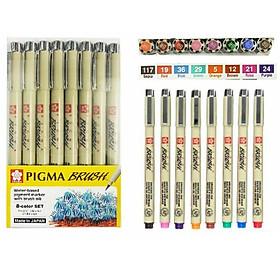 Bút Cọ Màu Pigma Brush Sakura (8 Màu)
