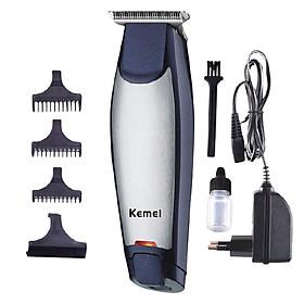 Tông đơ chấn viền không dây chuyên nghiệp Kemei KM-5021 nhỏ gọn đi kèm với máy là 3 cử lược căn độ dài tóc 1mm 2 mm 3mm