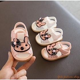 SN6_Giày sandal tập đi cho bé gái hình thỏ siêu dễ thương - Hàng QC cao cấp