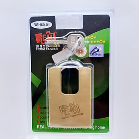 RSH60-01 Ổ khóa chống cắt vuông Real đồng thau 60mm