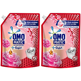 Combo 2 Túi Nước Giặt OMO Matic Comfort Hương Hoa Hồng (2.3kg/Túi)