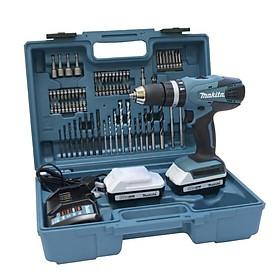 Máy khoan búa, vặn vít dùng pin(18v, 74 phụ kiện) Makita HP457DWE10
