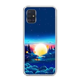 Ốp lưng dẻo cho điện thoại Samsung Galaxy A51 - 0449 MOON10 - Hàng Chính Hãng