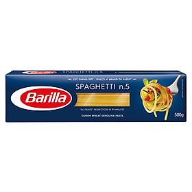 Mì Barilla Sợi Hình Ống Sợi Vừa Số 5 Spaghetti (500g)