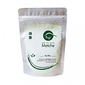 Bột Trà Xanh Fuji Matcha Thu 100g - Đắp mặt, trị mụn, dưỡng trắng da, nấu ăn. Hàng Chính hãng, 100% tự nhiên