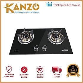 Bếp Gas Âm 2 Mâm Kanzo KZ-ECO-8888-GA - Công nghệ Italy - Chia lửa mâm đồng - Hàng Chính Hãng