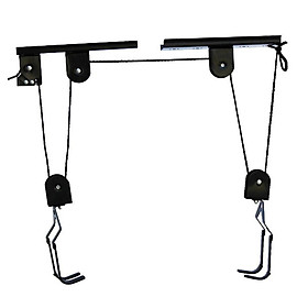 Ceiling BIKE STORAGE Lift Hang Cycle Garage Shed Mount Pulley Rack Hoist 40kg