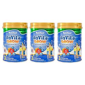 Bộ 3 Lon Sữa Bột NutiFood Nuvita Grow 3+ (900g)