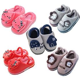 Giày sandal giữ ấm đế chống trượt cho bé trai và bé gái 1-3 tuổi hình nấm, mèo xinh xắn hàng mới về