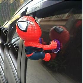 Người nhện bám xe máy, ô tô - Màu đỏ xanh