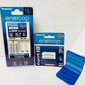 COMBO bộ sạc eneloop K-KJ51MCC20V và pin sạc eneloop AAA BK-4MCCE/2BV-Panasonic hàng chính hãng