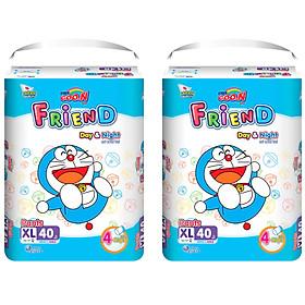 Combo 2 gói Tã quần Goo.n Friend XL40 thiết kế mới - tặng đồ chơi Toys house-0