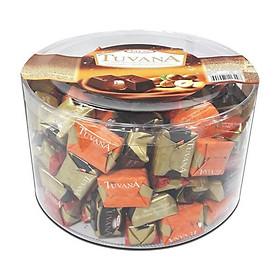 Sô cô la hạt phỉ hình vuông Tayas - 1000g/ lọ (thay thế bơ ca cao)