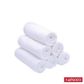 Khăn mặt HANVICO màu trắng 34x34