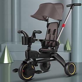 Xe đẩy 3 bánh cho bé  ngã lưng 3 cấp độ siêu gấp gọn, dành cho bé từ 1 - 5 tuổi trọng tải 40kg