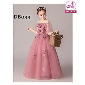 Váy Thiết Kế Công Chúa Bé Gái (Tiệm Công Chúa Nhỏ) Hồng Ruốc Siêu Xinh